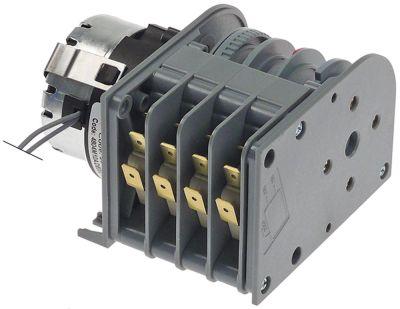 χρονοδιακόπτης CDC  4804M1  κινητήρες 1 θάλαμοι 4 χρόνος λειτουργίας 120s  230V ø άξονα  -mm