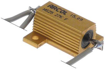 αντίσταση 27ΚΩ 25W με καλώδιο μήκος καλωδίου 400mm