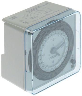 ρολόι διακόπτη HAGER τύπος EH711 230V έξοδος 16(3)A 50Hz μετρήσεις στερέωσης 72x72 mm