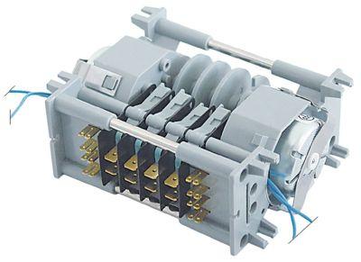 χρονοδιακόπτης 7804DV  θάλαμοι 4 χρόνος λειτουργίας 6s / 3min  230V ø άξονα  -mm