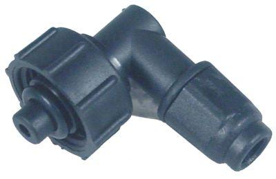 σύνδεσμος σωλήνα περιστροφικό ø σωλήνα 4x6 mm πλαστικό σύνδεσμος M10x1