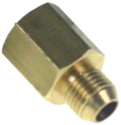 σύνδεσμος σωλήνα σπείρωμα M10x1  ορείχαλκος ø σύνδεσης σωλήνα 4x6mm mm