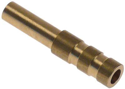 σύνδεσμος σωλήνα ορείχαλκος ΕΞ. ø 8/10mm ø αναγν. 6mm Μ 50mm