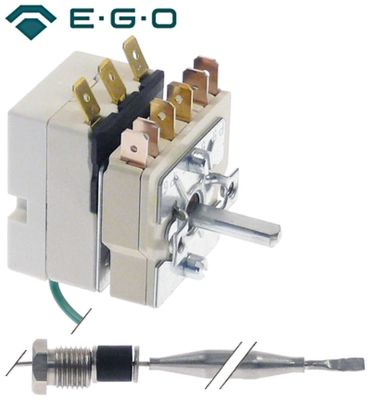 θερμοστάτης EGO  σειρά 55.13_ Μέγ. Θ 90°C εύρος θερμοκρασίας 30-90 °C 1-πόλοι 1CO  16A