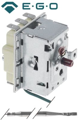 θερμοστάτης ασφαλείας θερμ. απενεργοποίησης 282°C 3-πόλοι 20A ø αισθητηρίου 4mm Μ αισθητηρίου 157mm