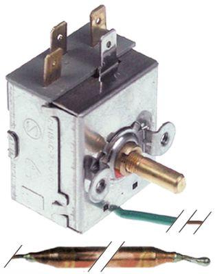 θερμοστάτης Μέγ. Θ 90°C εύρος θερμοκρασίας 0-90 °C 1-πόλοι 1CO  15A ø αισθητηρίου 6.5mm