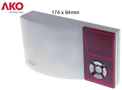 ηλεκτρονικός ελεγκτής AKO  τύπος AKO-D14632  μετρήσεις στερέωσης 174x94x42 mm παροχή 230VAC