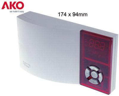 ηλεκτρονικός ελεγκτής AKO  τύπος AKO-D14610 μετρήσεις στερέωσης 174x94x42 mm παροχή 230VAC