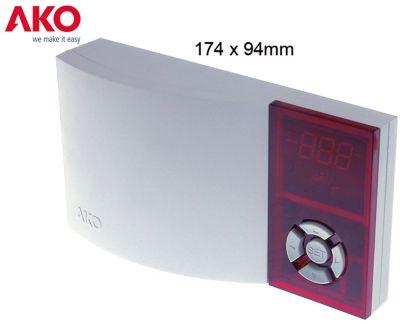 ηλεκτρονικός ελεγκτής AKO  τύπος AKO-D14642 μετρήσεις στερέωσης 174x94x42 mm παροχή 230VAC
