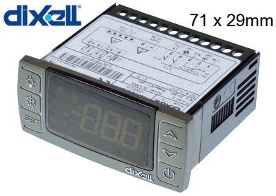 ηλεκτρονικός ελεγκτής DIXELL  XR60CX-0N0C0 μετρήσεις στερέωσης 71x29 mm 12V τάση AC/DC
