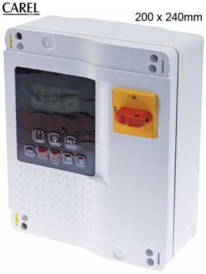 ρυθμιστής θαλάμων ψύξης CAREL  MD33D5FB00  μετρήσεις στερέωσης 200x240 mm