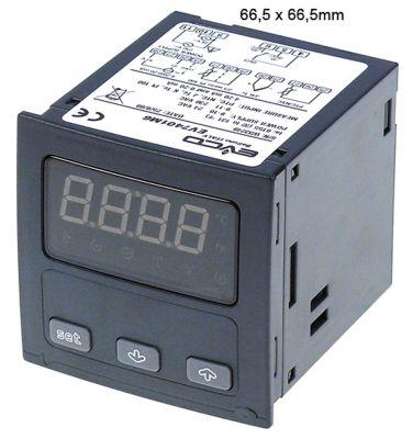 ηλεκτρονικός ελεγκτής EVCO  EV7401  μετρήσεις στερέωσης 66,5x66,5 mm