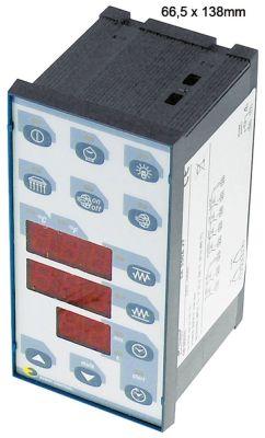 ηλεκτρονικός ελεγκτής EVCO  EK356AJ7  μετρήσεις στερέωσης 66,5x138 mm