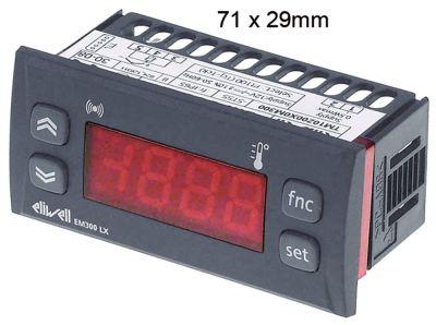 θερμόμετρο ELIWELL  τύπος EM300LX  μετρήσεις στερέωσης 71x29 mm 12V τάση AC/DC