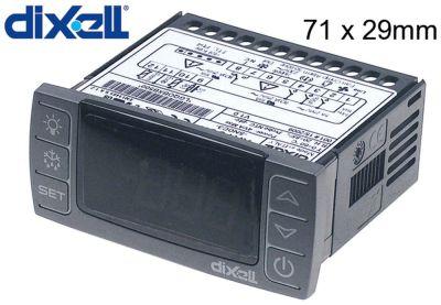 ηλεκτρονικός ελεγκτής DIXELL  XR70CX-5N0C3 μετρήσεις στερέωσης 71x29 mm 230V τάση AC