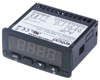 ηλεκτρονικός ελεγκτής EVCO  τύπος EVKB23N7  μετρήσεις στερέωσης 71x29 mm 230V τάση AC  NTC