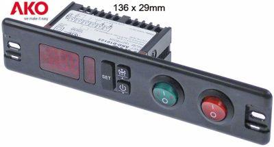 ηλεκτρονικός ελεγκτής 230V μετρήσεις στερέωσης 136x29 mm NTC/PTC