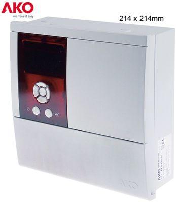 ηλεκτρονικός ελεγκτής AKO  τύπος AKO-15626  μετρήσεις στερέωσης 214x214 mm 230V τάση AC  NTC