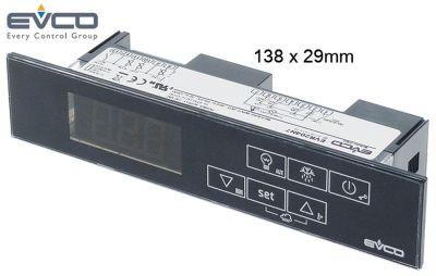 ηλεκτρονικός ελεγκτής EVCO  τύπος EVR204N7  μετρήσεις στερέωσης 138x29 mm 230V τάση AC
