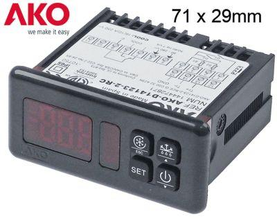 ηλεκτρονικός ελεγκτής AKO  τύπος AKO-D14123-2-RC  μετρήσεις στερέωσης 71x29 mm 90-240 V τάση AC