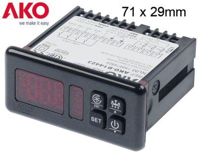 ηλεκτρονικός ελεγκτής AKO  τύπος AKO-D14423 μετρήσεις στερέωσης 71x29 mm 230V τάση AC