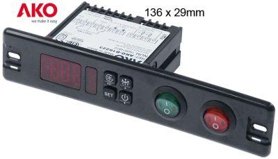 ηλεκτρονικός ελεγκτής AKO  τύπος AKO-D10223 μετρήσεις στερέωσης 136x29 mm 230V τάση AC