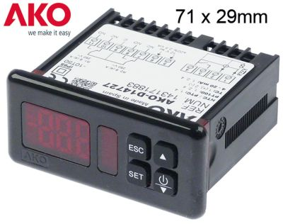 ηλεκτρονικός ελεγκτής AKO  τύπος AKO-D14727 μετρήσεις στερέωσης 71x29 mm 12V τάση AC/DC