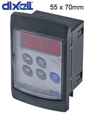 ηλεκτρονικός ελεγκτής DIXELL  XW60VS-5N0C0 μετρήσεις στερέωσης 55x70 mm