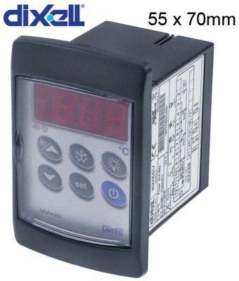 ηλεκτρονικός ελεγκτής DIXELL  XW60V-5N0C1 μετρήσεις στερέωσης 55x70 mm