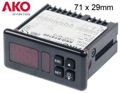 ηλεκτρονικός ελεγκτής AKO  τύπος AKO-D14729-C  μετρήσεις στερέωσης 71x29 mm 230V τάση AC