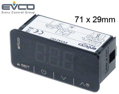 ηλεκτρονικός ελεγκτής EVCO  τύπος EV3X21N7 Touch  μετρήσεις στερέωσης 71x29 mm 230V τάση AC