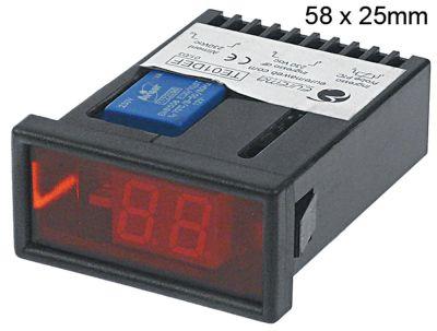 θερμόμετρο EUREMA  τύπος TE01DEF  μετρήσεις στερέωσης 58x25 mm 230V τάση AC   -°C