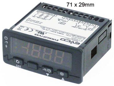 ηλεκτρονικός ελεγκτής EVCO  τύπος EVK802P7  μετρήσεις στερέωσης 71x29 mm 230V τάση AC