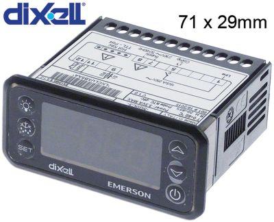 ηλεκτρονικός ελεγκτής DIXELL  XR20CH-5G0C3 μετρήσεις στερέωσης 71x29 mm