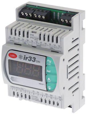 ηλεκτρονικός ελεγκτής CAREL  DN33C0HB00  μετρήσεις στερέωσης  -mm ενσωματωμένο βάθος  -mm