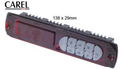 πληκτρολόγιο CAREL  PST00LR400  μετρήσεις στερέωσης 138,5x29 mm