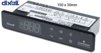 ηλεκτρονικός ελεγκτής DIXELL  XW70LH-5N0W0-B μετρήσεις στερέωσης 150x31 mm