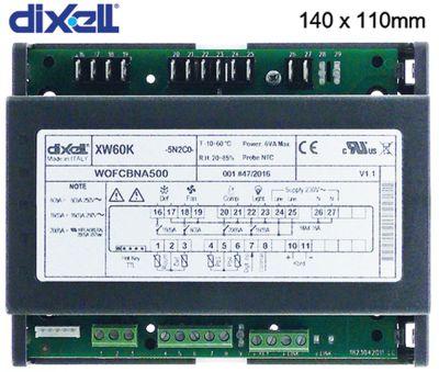 πλακέτα ισχύος DIXELL  XW60K-5N2C0 μετρήσεις στερέωσης 140x110 mm