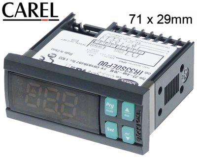 ηλεκτρονικός ελεγκτής CAREL  IR33S0EP00 μετρήσεις στερέωσης 71x29 mm