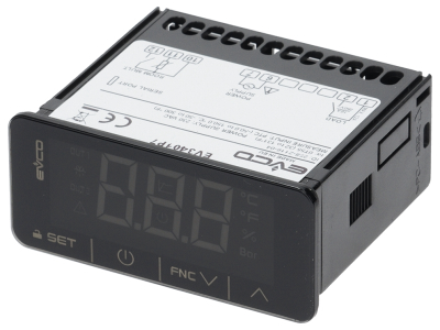 ηλεκτρονικός ελεγκτής EVCO  τύπος EVK401P7 μετρήσεις στερέωσης 71x29 mm 230V τάση AC
