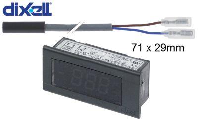 θερμόμετρο DIXELL  XT11S-5000N μετρήσεις στερέωσης 58x25,5 mm 230V τάση AC  NTC