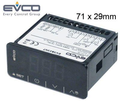 ηλεκτρονικός ελεγκτής EVCO  τύπος EV3B23N7 μετρήσεις στερέωσης 71x29 mm 230V τάση AC