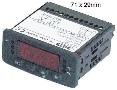 ηλεκτρονικός ελεγκτής EVCO  EVK411  μετρήσεις στερέωσης 71x29 mm