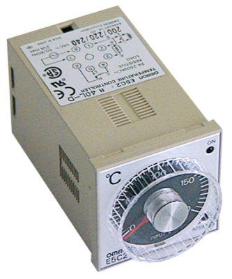 ηλεκτρονικός ελεγκτής OMRON  τύπος E5C2-R40L-D  μετρήσεις στερέωσης 45x45 mm 230V τάση AC  TC/J