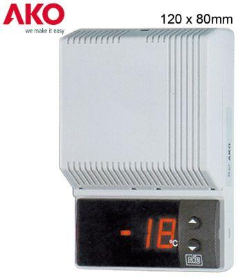 θερμόμετρο AKO  τύπος AKO-14605  μετρήσεις στερέωσης 80x120x37 mm 230V τάση AC