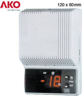 ηλεκτρονικός ελεγκτής AKO  τύπος 14615 μετρήσεις στερέωσης 80x120x37 mm παροχή 230VAC
