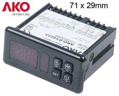ηλεκτρονικός ελεγκτής AKO  τύπος AKO-D14223  μετρήσεις στερέωσης 71x29 mm 230V τάση AC