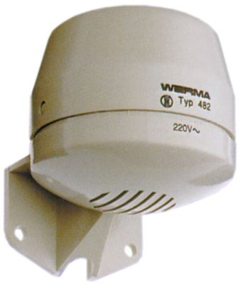 συσκευή συναγερμού 230VAC  ø 70mm H 80mm τοποθέτηση με βίδα απόσταση στερέωσης 45mm 92dB