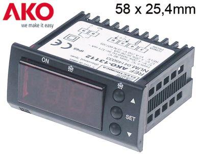ηλεκτρονικός ελεγκτής AKO  τύπος 13112 μετρήσεις στερέωσης 58x25,4 mm 12V τάση AC/DC
