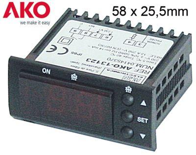 ηλεκτρονικός ελεγκτής AKO  τύπος 13123 μετρήσεις στερέωσης 58x25,4 mm 230V τάση AC  NTC